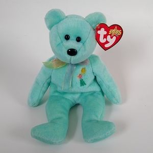 Ty beanie baby collection Ariel the bear 2000 pediatric charity foundation NWT